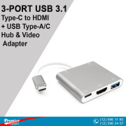 Converter 3in1 TYPE-C  to USB3.0/HDMI/USB-C 10sm