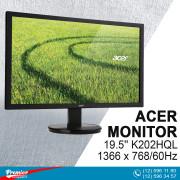 Monitor 19.5'' Acer K202HQL 1366 x 768/60Hz/600:1/5Ms/VGA  P/N UM.IX3EE.A01