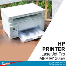 Printer HP LaserJet Pro MFP M130nw Print, Copy, Scan / 22 ppm / 600 x 600 dpi / LCD / USB 2.0 printing port / Ethernet / Wi-Fi / 256 MB / 60-163 g/m²