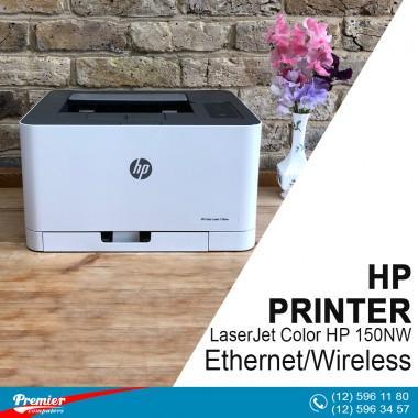 Printer LaserJet Color HP 150 NW Ethernet/Wireless P/N 4ZB95A