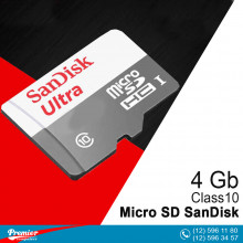 Micro SD SanDisk Ultra 4 Gb Class10 UHS-I 48MB/s (R) + SD Adapret