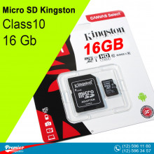 Micro SD Kingston 16 Gb Class10 UHS-I 80MB/s (R) + SD Adapret