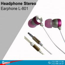 Headphone Stereo Earphone L-801