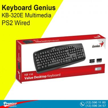 Keyboard Genius KB-320E Multimedia PS2 Wired