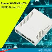 Router Wi-Fi MikroTik RB951G-2HnD 2 Internal Antenna 2.5 dBi 300Mb/s 5 x 10/100/1000 Mbit/s LAN