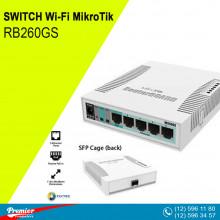 Switch MikroTik RB260GS  5 x 10/100 Mbit/s LAN  2 PoE 1 SFP