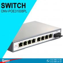 Switch ONV-POE31008PL Desktop  8 x 10/100M PoE ports +1 x 10/100M 10M/250m