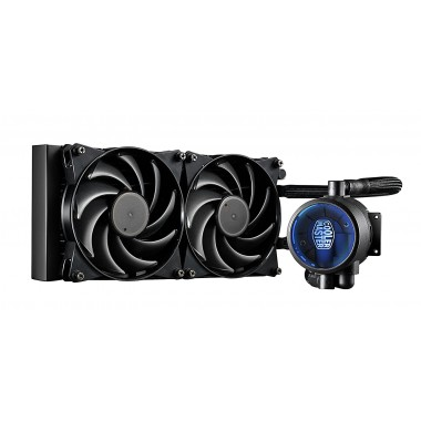 Cooler Master MasterLiquid Pro 240 CPU Cooler, All-In-One Liquid Cooler with FlowOp Technology, Dual Chamber Design, 120mm x 2 MasterFan Pro Fans  MLY-D24M-A20MB-R1
