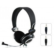 SENICC ST-818 3.5mm Wired Headband Gaming Headphone w/ Mic. - Black