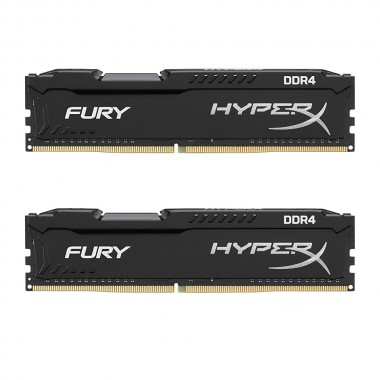 Kingston HyperX FURY Black 8GB Kit (2x4GB) 2133MHz DDR4 Non-ECC CL14 DIMM Desktop Memory (HX421C14FBK2/8)  HX421C14FBK2/8