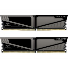 Team T-Force Vulcan 16GB (2 x 8GB) 288-Pin DDR4 SDRAM DDR4 2400 (PC4 19200) Desktop Memory Model TLGD416G2400HC14DC01