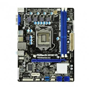 Asrock H61M-VS Micro-ATX Motherboard (Socket 1155, Onboard Sound and LAN, ASRock Extreme Tuning Utility - AXTU)  Asrock H61M-VS