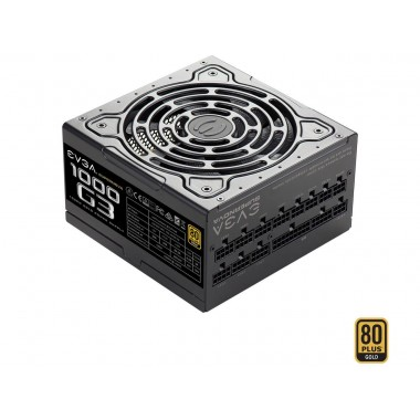EVGA SuperNOVA 1000 G3, 220-G3-1000-X1, 80+ GOLD, 1000W Fully Modular, EVGA ECO Mode with New HDB Fan, Includes FREE Power On Self Tester, Compact 150mm Size, Power Supply  220-G3-1000-X1