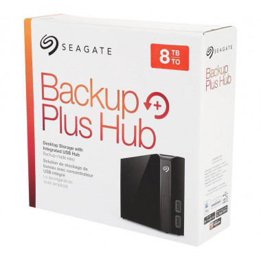 Seagate Backup Plus Hub 8TB USB 3.0 Hard Drives - Desktop External Black  STEL8000100