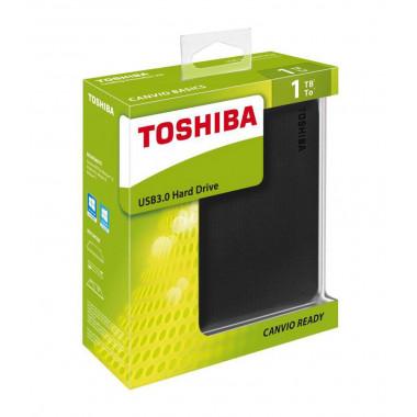 Toshiba Canvio Ready 1TB USB 3.0 Portable Black Hard Drive  HDTP210EK3AA