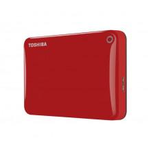 TOSHIBA 2TB Canvio Connect II Portable Hard Drive USB 3.0 (USB 2.0 compatible) Model HDTC820ER3CA Red