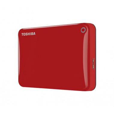 TOSHIBA 2TB Canvio Connect II Portable Hard Drive USB 3.0 (USB 2.0 compatible) Model HDTC820ER3CA Red  HDTP205EK3AA