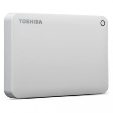 TOSHIBA 2TB Canvio Connect II Portable Hard Drive USB 3.0 (USB 2.0 compatible) Model HHDTC820EW3CA White  HHDTC820EW3CA