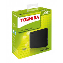 Toshiba Canvio Ready 500GB USB 3.0 Portable Black Hard Drive