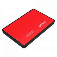 ORICO 2.5 USB 3.0 SATA External Hard Drive Enclosure Tool-less installation for 2.5 inch 9mm 7.5 mm SATA HDD SSD Enclosure – Red
