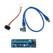 USB 3.0 Pci-e Express 1x to 16x Extender Riser Card Adapter
