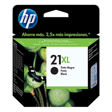HP 21XL High Yield Black Original Ink Cartridge  HP 21XL