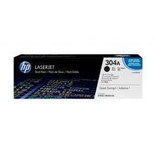 HP 304A LaserJet Toner Cartridge - Dual Pack - Black