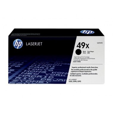 HP 49X High Yield LaserJet Toner Cartridge - Black  HP 49X