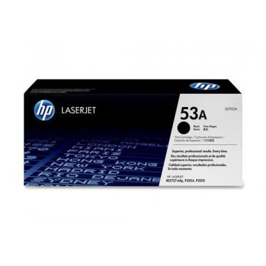 HP 53A LaserJet Toner Cartridge - Black  HP 53A
