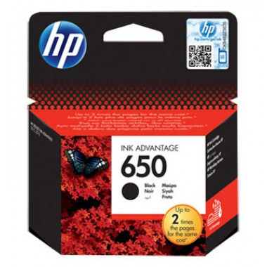 HP 650 Black Original Ink Advantage Cartridge  HP 650