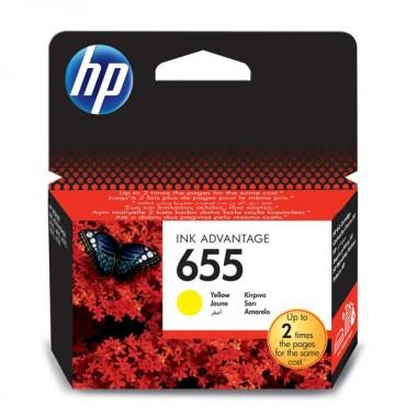 HP 655 (CZ112AE) Inkjet Cartridge Yellow  HP 655 (CZ112AE)