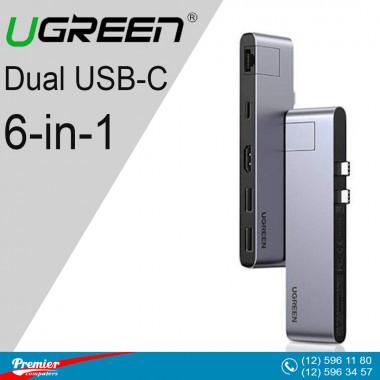 UGREEN Dual USB-C 6-in-1 Multifunctional Converter