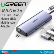 UGREEN USB-C to 3 x USB 3.0+RJ45 10/10/1000 +Micro USB Multifunction Adapter