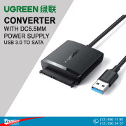 UGREEN USB 3.0 to SATA Converter with DC5.5mm Power Supply
