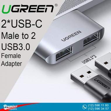UGREEN 2*USB-C Male to 2*USB3.0 Female Adapter