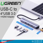 UGREEN USB-C to 4*USB 3.0+HDMI Adapter