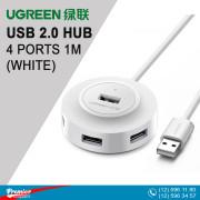 UGREEN USB 2.0 Hub 4 Ports 1m (White)
