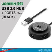 UGREEN USB 2.0 Hub 4 Ports 25sm (Black)